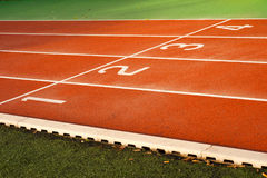 Running tracks in a sports area Stock Photos