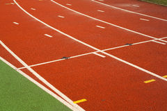 Running tracks in a sports area Stock Image