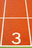 Running tracks in a sports area. Running tracks in a stadium stock image