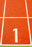 Running tracks in a sports area. Running tracks in a stadium stock photography