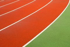 Running tracks in a sports area Royalty Free Stock Photography