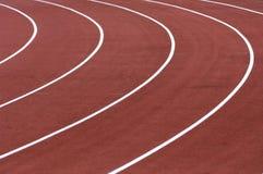 Running tracks in a stadium Stock Images