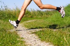 Running on trail Royalty Free Stock Photography