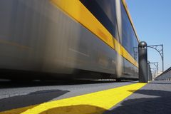 Running train Stock Photos