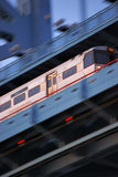 Running Train philadelphia subway  Royalty Free Stock Photography