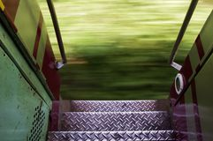 Running train in Thailand Royalty Free Stock Photo