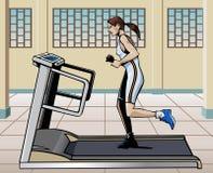running treadmill Arkivbilder