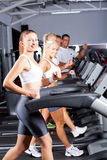 Running on treadmill Royalty Free Stock Photo