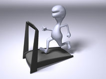 Running on a treadmill Stock Image