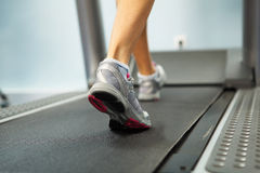 Running on treadmill Stock Photography