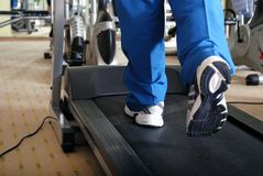 Running on a treadmill Stock Photos