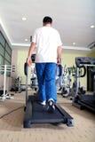 Running on a treadmill Stock Photos