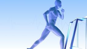 running treadmill för man vektor illustrationer