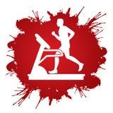 running treadmill för man Fotografering för Bildbyråer
