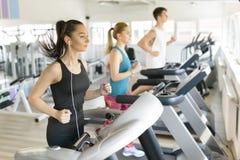Running on Treadmill Stock Photography