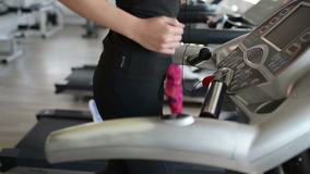 Running on Treadmill stock video footage