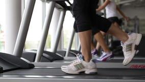 Running on the treadmill stock video footage