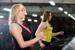 Running on treadmill Stock Image