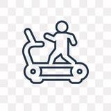 Running Treadmill vector icon isolated on transparent background stock illustration