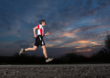 Running triathlete Stock Photo