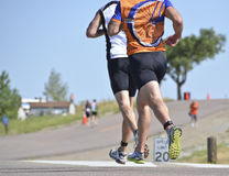 Running Triathletes Royalty Free Stock Photos
