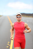 Running triathlon athlete runner Stock Image