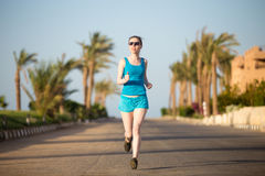 Running in tropics Royalty Free Stock Photography