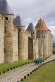 Running under the citadel walls Stock Image