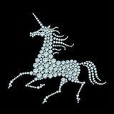 Running unicorn Royalty Free Stock Image