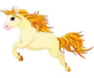 Running unicorn stock illustration