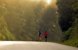 Running Uphill Stock Photography