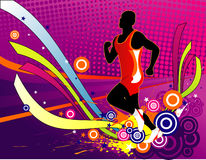 Running vector composition Stock Photography