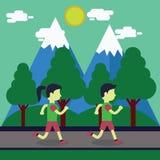 Running Vector Illustration. Running illustration with flat design vector Vector Illustration
