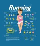 Running vector illustration Royalty Free Stock Photography