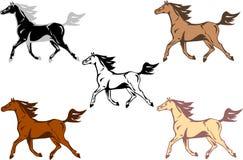 running vektor för häst Fotografering för Bildbyråer