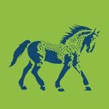running vektor för häst Royaltyfria Bilder