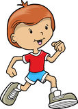 running vektor för pojke Fotografering för Bildbyråer