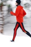 running vinter Arkivbilder