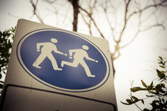 Running and walking sign Stock Photos