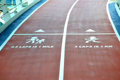 Running/Walking Track. Walk or run track provided for the convenience and safety of their passengers Royalty Free Stock Photo