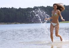Running on water Stock Image