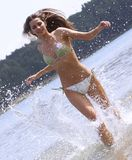 Running on water Royalty Free Stock Photo
