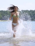 Running on water Royalty Free Stock Photography