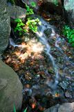 Running water over rocks Royalty Free Stock Image