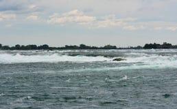 Running Water. Rapids and running water at Niagara Falls royalty free stock image