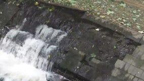 Running water 15s. Water running down the rocks stock video
