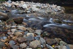 Running of water stream from waterfall Stock Photos