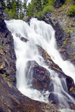 Running water and water fall runs through Payette national Forest near McCall Idaho Stock Photo