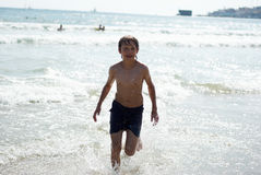 Running on the waves6 Royalty Free Stock Images