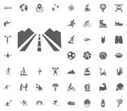 Running way icon. Sport illustration vector set icons. Set of 48 sport icons. Running way icon. Sport illustration vector set icons. Set of 48 sport icons Royalty Free Stock Photos
